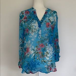 Kut from the Kloth floral sheer blouse. Size Small